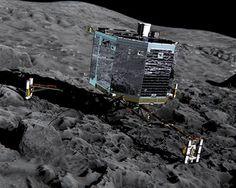 Así es Philae, la primera máquina que ha aterrizado sobre un cometa: http://www.muyinteresante.es/ciencia/fotos/15-datos-y-curiosidades-sobre-la-mision-rosetta/mision-roseta-7 #ciencia #science