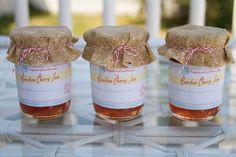 Bourbon Cherry Jam - 4c.chpd. cherries, 4 TBS. lemon juice, 1/2 c. bourbon, 1 pkg. pectin, 4 c. sugar