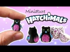Miniature Hatchimals Tutorial // DIY Dolls/Dollhouse Bearakeet - YouTube