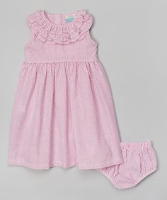 Another great find on #zulily! Pink Seersucker Dress and Diaper Cover - Infant, Toddler & Girls #zulilyfinds