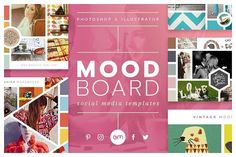 cool Mood Board Pack  CreativeWork247 - Fonts, Graphics, Themes, Templates...
