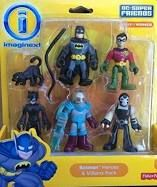 Imaginext, DC Super Friends, Exclusive Batman Heroes & Villains Pack (Batman, Robin, Catwoman, Mr. Freeze, and Bane)