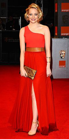 Emma Stone in Lanvin at 2011 BAFTA Awards