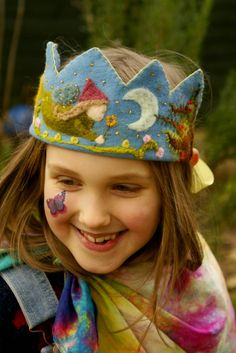 Really beauiful examples of felted birthday crowns....about 6 different ones, rowan tree faery here....tilly tilda: I've been...