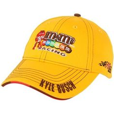 NASCAR Chase Authentics Kyle Busch Official Pit Adjustable Hat - Yellow by Football Fanatics. $24.95. Chase Authentics Kyle Busch Official Pit Adjustable Hat - YellowStructured fitImportedOfficially licensed Kyle Busch pit capOne size fits mostAdjustable hook and loop fastener strap100% CottonQuality embroidery100% CottonStructured fitQuality embroideryAdjustable hook and loop fastener strapOne size fits mostImportedOfficially licensed Kyle Busch pit cap