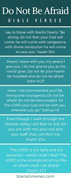 Do not be afraid Bible Verses #singlemomlife #bibleverseforwomen #christiansinglemom