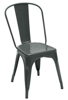 Chaise A acier laqué Grey Tolix