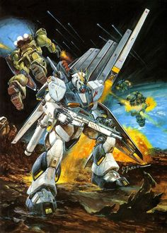 Gundam by Yoshiyuki Takani   ガンダム - 高荷 義之 * ~ Nu Gundam has to be one of my favourites. Only behind the Hi-Nu.