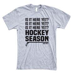 Can't wait for hockey season? This hockey shirt would make a… Hockey Gifts, Hockey Stuff, Hockey Mom, Field Hockey, Ice Hockey, Youth Hockey, Rangers Hockey, Blackhawks Hockey, Chicago Blackhawks