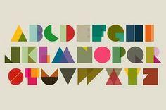 Colorful + geometric alphabet type