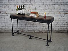 French Industrial Furniture - Vintage Console Table - Craftsmanship holyfunk.com.au $399