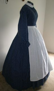 Victorian Times: civil war dress (can't tell if this is original or modern).                                                                                                                                                                                 More