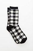 luxury-blend buffalo plaid crew socks | J.Jill