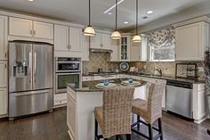 Loving the open kitchen design in the Drexel model! Homes for sale in Charlotte, NC! #gourmetkitchen