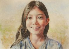 Acoustic Drawings The Shinji Ogata Gallery: My Daughter's Portrait 7 娘のポートレート 7
