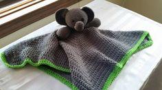 Custom Crochet Elephant Security Blanket for Baby Toddler Custom Colors Free S&H