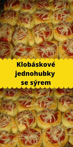 Klobáskové jednohubky se sýrem Cooking Tips, Food And Drink, Pizza, Vegetables, Kitchen, Recipes, Hampers, Cooking, Kitchens