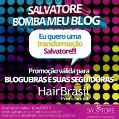 Hoje no Blog tem uma ação da Salvatore Cosmética Profissional, corre lá e participa.  http://blogdajeu.com.br/salvatore-bomba-meu-blog/  #salvatorecosmetica #salvatorebombameublog #blog #blogger #acao #hairbrasil #feira #promocao #blogueiras #leitores