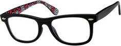 Black Full Rim Plastic Frames #2797 | Zenni Optical Eyeglasses
