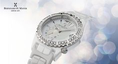 La Vida Ceramic Glamour & Sparkle A timepiece that resonates the very fusion of classic and contemporary, La Vida Ceramic is the ideal choice for the spirited fashionista looking to add some fun to her day. Its unique white ceramic case is presented with an encrusted bezel of sparkling cubic zirconias. Having a smaller sub-dial for seconds adorned with a mother-of-pearl outer ring that sets off the intricate detail of the face piece, this watch has its own flair of modern sophistication.