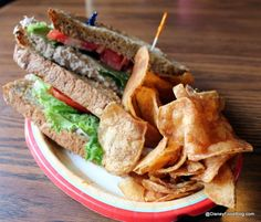Anchors Aweigh Sandwich with Chips at Columbia Harbour House! yum! one of our favorites!