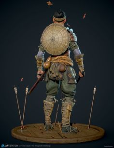 ArtStation - Sergei Kotenko's submission on Feudal Japan: The Shogunate - Game Character Art (real-time) 2d Character, Character Concept, Character Design, Samurai Armor, Samurai Jack, Samurai Drawing, Medium Armor, Ancient Armor, Costume Armour