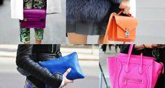 Feirinha Chic : Looks com bolsas coloridas - Por mais luz no seu v...