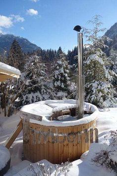Thomas, Oberammergau, Deutschland - - Outdoor Whirlpools Hot tubs in backyards - Hot Tub Backyard, Fire Pit Backyard, Outdoor Sauna, Outdoor Decor, Plunge Pool, Cottage Interiors, Outdoor Projects, Garden Planning, Garden Design