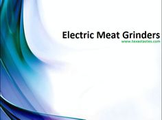 Meat Grinders - Electric Meat Grinder