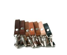 Leather Key Chains Valet Keychains Keychains by IndependentReign, $15.00