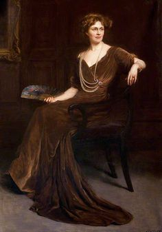 Portrait of Lady Bullough by Hugh Goldwin Riviere Belle Epoque, Jean Leon, Classic Paintings, Vintage Paintings, Classic Portraits, Glamour, Art Uk, Woman Painting, Art Blog