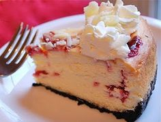 ♥ Cheesecake Factory's White Chocolate Raspberry Truffle Cheesecake