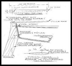 sailboat rudder design   The Glen-L 11 rudder is shown