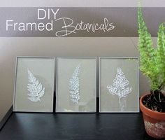 Here we present you some amazing DIY projects that are ideal for home decoration. Wall art pieces are perfect for decorating spaces around the house and Creative Crafts, Diy Crafts, Diys, Glass Picture Frames, Martha Stewart Crafts, Types Of Craft, Pinterest Diy, Diy Frame, Diy Wall Art