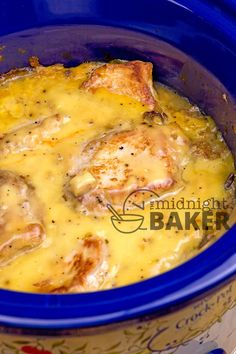 Slow Cooker Pork Chops with Dressing - with an easy creamy gravy is pure comfort food from your slow cooker. : The Midnight Baker Crock Pot Slow Cooker, Crock Pot Cooking, Slow Cooker Recipes, Crockpot Recipes, Cooking Recipes, Crock Pots, Delicious Recipes, Yummy Food, Crockpot Dishes