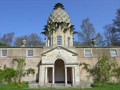 The Dunmore Pineapple House was built in Scotland for John Murray (fourth Earl of Dunmore) in 1761 by an unknown architect.  Pineapples were once considered precious like gold and were only served to special guests!!!