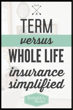 Do you find life insurance confusing? We break down the difference between Term Life vs. Whole Life Insurance in an extremely simple way. End the mystery of which insurance is best and how much you need to stay protected. Saving Money Quotes, Money Saving Tips, Money Tips, Budgeting Finances, Budgeting Tips, Finance Books, Finance Tips, Whole Life Insurance, Debt Free Living