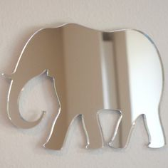 Elephant Mirror - available in 5 sizes. Also available in packs of 10 Baby Elephant mirrors for crafting and decorative use. Our mirrors are cut from 3mm shatterproof, child safe acrylic and have laser polished edges. Each product is supplied with strong adhesive pads along with