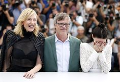 """Cate Blanchett, Todd Haynes, and Rooney Mara have a laugh at their Cannes photocall promoting the movie """"Carol."""""""