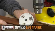 A Small, Inexpensive Planer Alternative: StewMac's Safe-T-Planer lets you flatten boards with your drill press- Core77