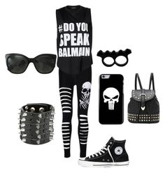 """""""Untitled #7"""" by nisa-hadzic ❤ liked on Polyvore featuring moda, Balmain, Converse, Chanel e L'Artisan Créateur"""