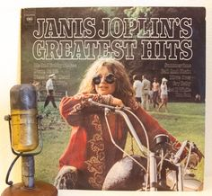"Janis Joplin Vinyl Record Album 1960s Classic Rock Blues Soul Acid ""Greatest Hits"" (1973 Columbia w/""Me And Bobby McGee"")"