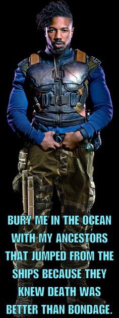 Michael B. Jordan played the hell outta his part, Erik Killmonger.