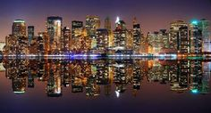 New York Skyline Art Prints, Wall Art, Canvas Prints | FreeArt