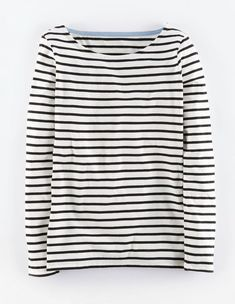"""Boden Long Sleeve Breton. """"Nothing beats a classic. Our Breton returns in the same supersoft cotton and a new slew of stripes."""""""