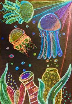 A lesson on how to draw Jelly Fish from the lost sock blog