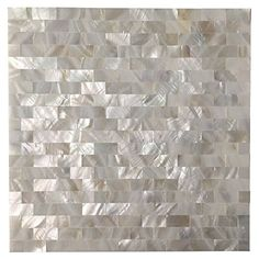 "Art3d Peel and Stick Mother of Pearl Shell Mosaic Tile for Kitchen Backsplashes, 12"" x 12"" White Brick"