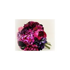 Popular items for purple peony bouquet ❤ liked on Polyvore featuring home, home decor, floral decor, purple bouquets, outside home decor, vintage home decor, purple home accessories and peony flower bouquet