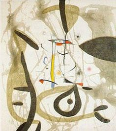 El Pi De Forrmentor Limited Edition Print - Aquatint Hand Signed - With salutation to one of miro's friends Size - 23 x 35  Price: $4,700  31-May-14