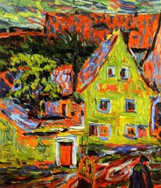 german-expressionists: Ernst Ludwig Kirchner, Green House, 1907
